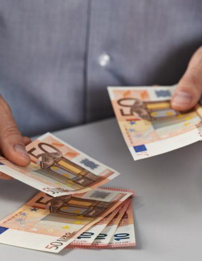 Handmodel Geld